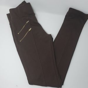 Roma Collection Chocolate Brown Leggings